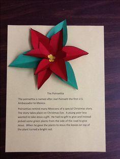 Poinsettias for Mexican Christmas Spanish Christmas, A Christmas Story, Christmas Themes, Holiday Crafts, Spanish Holidays, Santa Crafts, Preschool Christmas, Christmas Activities, Kids Christmas