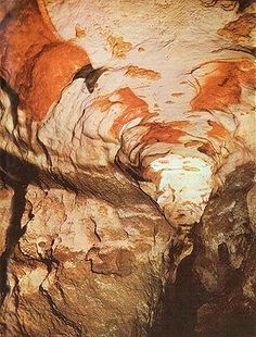 Ancient Paleolithic Paintings -- Axial Gallery in Lascaux Cave, Southwest France -- This cave art is located near the village of Montignac & dates to around BCE.