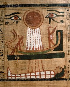 Egypt, the Book of the Dead of Heruben, Twenty-First Dynasty, Third Je trouve que ca ressemble un sourir