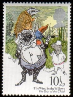 Literary Stamps: Grahame, Kenneth (1855-1932) Wind in the Willows - Reading, Libraries, Books & Spaces - #curtnerds