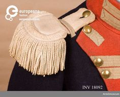 Epaulette of the 'Kungliga Andra livgardet', 'Göta guards', Sweden, 1816 - 1833. Courtesy Armémuseum, CC BY.