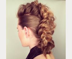 braided faux hawk updo ~ we ❤ this! moncheriprom.com