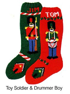Toy Soldier Stocking pattern by Mary Maxim