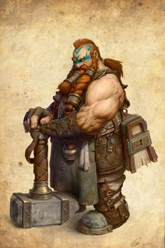 ArtStation - Dwarf Blacksmith, Cole Eastburn