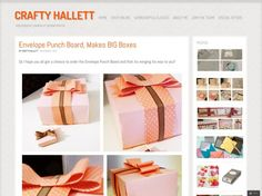big boxes with envelope punchboard