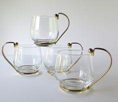 glass coffee mug metal handle - Google Search