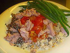 Thunfisch-Tomaten Salat mit Quinoa und Reis