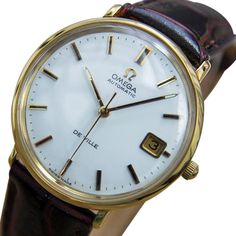 Omega DeVille Swiss Made Men's Automatic 1960s Gold Plated Dress Watch