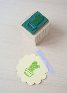 Rubber stamp Cactus by MOZAIQ