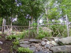 Rustic garden fencing