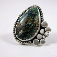 Apache Turquoise and Silver Ring size 6-1/2 by SilverandSeaJewelry