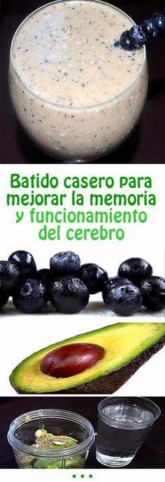 Batido casero para mejorar la memoria y funcionamiento del cerebro #batido #casero #memoria #cerebro #mejorar #remedio