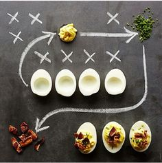 Game party - self serve deviled eggs