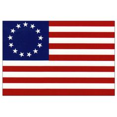 Betsy Ross Flag,June 14,1777 — Continental Congress adopts the following: Resolved: that the flag of the United States be thirteen stripes, alternate red and white; that the union be thirteen stars, white in a blue field, representing a new constellation