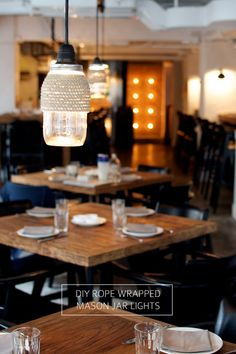 DIY ROPE WRAPPED MASON JAR LIGHTS - a pair & a spare