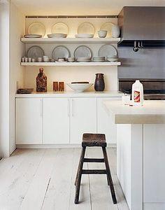 Keuken met plank