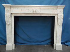 fireplace marble carrare withe louis xvi n°59 - Cheminées - Cheminées et décorations - Nord Antique