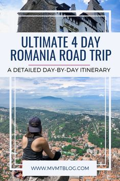 The Ultimate 4 Day Romania Road Trip Itinerary: Travel through Transylvania to Sinaia, Brasov, and Sighisoara and witness beautiful castles, towering mountains, and lush greenery as you drive through the country. End in Bucharest and learn about the histo Road Trip Europe, Europe Travel Guide, Travel Guides, Travel Destinations, History Of Romania, Visit Romania, Road Trip Hacks, Road Trips, Romania Travel