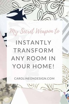 Are you ready to update your home decor, but are unsure what to do? There is ONE thing that has the ability to INSTANTLY transform any room in your home! Adding this one item will give your room a whole new feel!