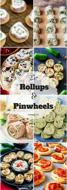 25 Rollups and Pinwheels Appetizers/snacks Pinwheel Sandwiches, Pinwheel Appetizers, Pinwheel Recipes, Tea Sandwiches, Finger Food Appetizers, Easy Appetizer Recipes, Wrap Recipes, Appetizers For Party, Parties Food