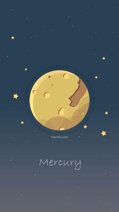 MercuryCollection of planets 5 Planets Wallpaper, Wallpaper Space, Galaxy Wallpaper, Cool Wallpaper, Mobile Wallpaper, Pattern Wallpaper, Wallpaper Backgrounds, Iphone Wallpaper, Space Illustration