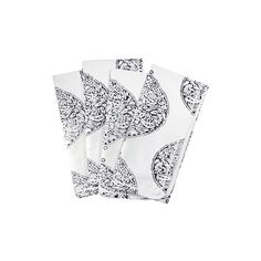 Black on White Isabelle Blockprint Napkins ($3,500) ❤ liked on Polyvore featuring home, kitchen & dining, table linens, black napkins, black white table linens, white table linens, black table linens and black table napkins