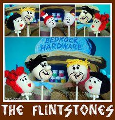 flintstone cake pops
