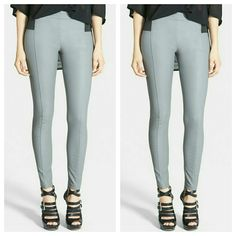 Gray Faux Leather Leggings Sleek, snug fit leggings in gray faux leather. Stretchy waistband. Second photo only shows what the back of legging looks like as an example. Leggings are allover gray and do not have a black back. New. Size medium. Glamorous Pants Leggings
