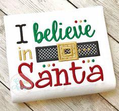 I Believe in Santa Applique $ REPIN THIS then click here: https://creativeappliques.com/