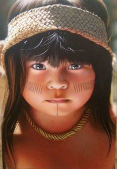 Beautiful Children, Beautiful Babies, Beautiful People, We Are The World, People Of The World, Cherokees, Tribal Makeup, Native American Children, Bless The Child
