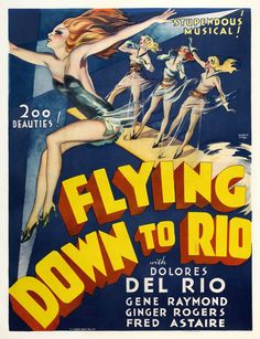 Flying Down To Rio Movie Poster Fred Astaire Ginger Rogers