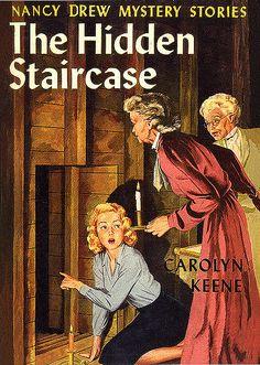 I had all of the Nancy Drew and Hardy Boys books! Nancy Drew, The Hidden Staircase Nancy Drew Mystery Stories, Nancy Drew Mysteries, Mystery Books, Mystery Series, I Love Books, Good Books, My Books, Detective, Nostalgia