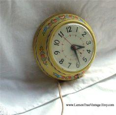 GE Telechron Wall Clock, Etsy, $32.00