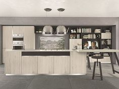 Fitted kitchen with island IMMAGINA | Kitchen with island - Cucine Lube