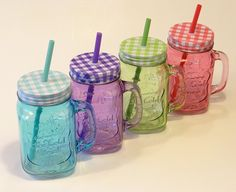 Limonádés poharak többféle színben! Mason Jars, Cold, Mugs, Tableware, Vintage, Home Decor, Dinnerware, Decoration Home, Room Decor