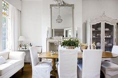 white slipcovered chairs & sofa | Little Emma English Home