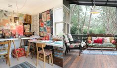 Colourful prints, mismatched furniture, vintage decor - it has it all! Talk about my dream home.