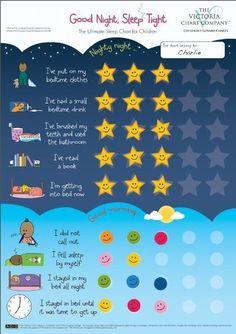 Good Night, Sleep Tight Reward Chart - The Ultimate Sleep Chart for Children (2yrs+):Amazon:Health  Personal Care