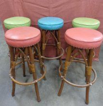 Mid Century Multi Colored Bar Stools Auctions Online Proxibid
