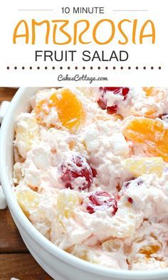 a light and refreshing fruit salad just as perfect for an everyday treat as for holidays.