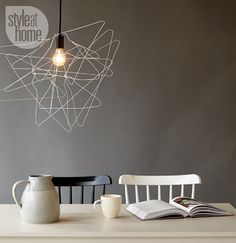 DIY project: Free-form lampshade {PHOTO: Ryan Brook/TC Media}