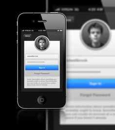 iOS Sign In - Mobile Interface - Creattica
