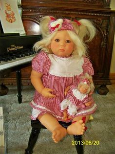 annette himstedt 1998 doll with club doll never displayed