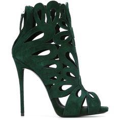 Giuseppe Zanotti Design Rear Zip Sandals ($1,295) ❤ liked on Polyvore featuring shoes, sandals, heels, обувь, green, high heels stilettos, stiletto sandals, open toe sandals, giuseppe zanotti shoes and heels stilettos