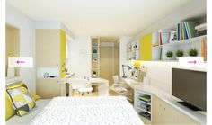 Looking for student accommodation in Cambridge? Student Castle offers high quality, value for money student rooms with great features and central locations. One Room Apartment, Student Apartment, Student House, Uni Dorm, University Rooms, Student Bedroom, Student Dormitory, Property Design, Rental Property