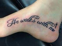 sinnvolle Fußtattoos – foot tattoos for women Faith Foot Tattoos, Bible Tattoos, Biblical Tattoos, Religious Tattoos, Tattoo Fonts, Lettering Tattoo, Foot Tattoo Quotes, Cute Foot Tattoos, Meaningful Tattoos