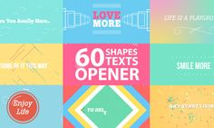 colorful shapes opener after effects template after effects c4d