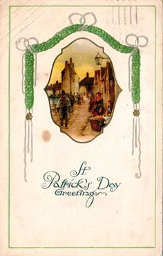 Patrick's Day Postcard, Visual Studies Collection, Library of Virginia. Luck Of The Irish, Saint Patrick, Postcards, Virginia, Ireland, Scrapbooking, Holiday, Collection, Ideas