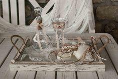 Υπέροχο σετ γάμου,ταιριαστό με πολλά σχέδια στεφάνων  Μπορείτε να επιλέξετε δίσκο-καράφα-ποτήρι από διαφορετικές εικόνες για να δημιουργήσετε το δικό σας σετ, άλλωστεγι'αυτό πωλούνταικαι χωριστά  Δίσκος ξύλινος πατίνα 45€ (διαστάσεις 45*33),κρυστάλλινηκαράφα 45€,κρυστάλλινοποτήρι 20€.Αν θέλετε μπορείτε να επιλέξετε κουτάκι ή μαξιλαράκι για τις βέρες που θα βρείτε σε αντίστοιχη κατηγορία.  Στην τιμή συμπεριλαμβάνεται ΦΠΑ 24%. Church Wedding Decorations, Wedding Wreaths, Arts And Crafts, Marriage, Cool Stuff, Wedding Ideas, Design, Wedding, Valentines Day Weddings