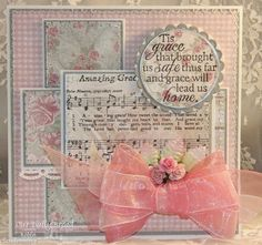 ODBDSLC234 Sketch Challenge  Stamps - Our Daily Bread Designs Amazing Grace Hymn, How Sweet The Sound, ODBD Custom Beautiful Borders Dies, ODBD Shabby Rose Paper Collection
